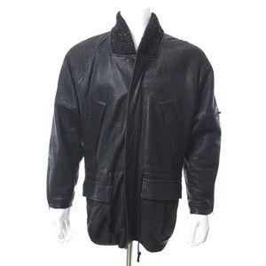 Yves Saint Laurent Jackets & Coats - Yves Saint Laurent Black Leather Bomber Jacket